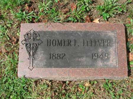 LEFEVER, HOMER E. - Fairfield County, Ohio | HOMER E. LEFEVER - Ohio Gravestone Photos