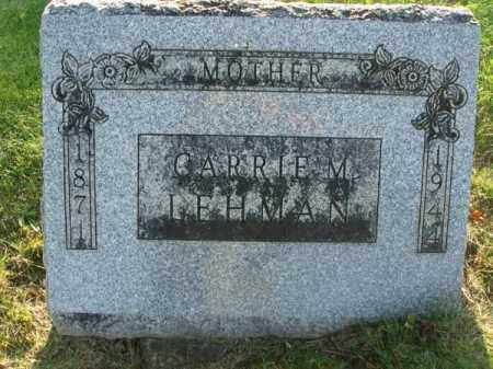 LEHMAN, CARRIE M. - Fairfield County, Ohio | CARRIE M. LEHMAN - Ohio Gravestone Photos
