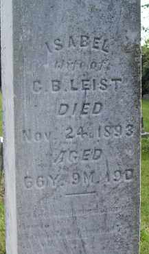 LEIST, ISABEL - Fairfield County, Ohio | ISABEL LEIST - Ohio Gravestone Photos