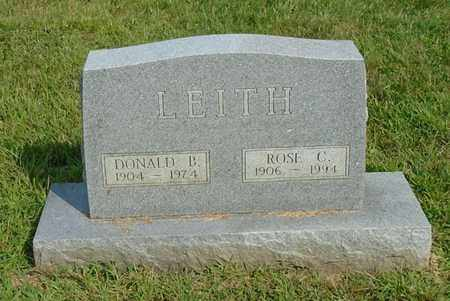 LEITH, DONALD B. - Fairfield County, Ohio | DONALD B. LEITH - Ohio Gravestone Photos