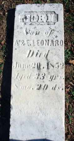 LEONARD, JOHN - Fairfield County, Ohio | JOHN LEONARD - Ohio Gravestone Photos