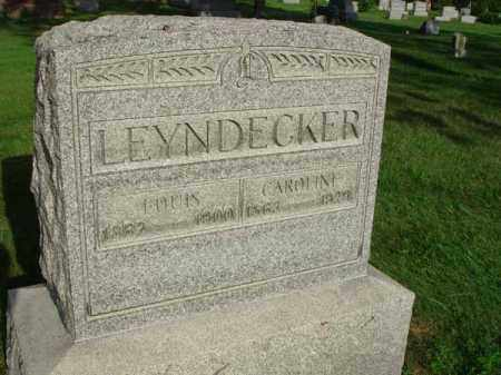 LEYNDECKER, CAROLINE - Fairfield County, Ohio | CAROLINE LEYNDECKER - Ohio Gravestone Photos