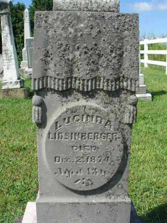 LITSINBERGER, LUCINDA - Fairfield County, Ohio | LUCINDA LITSINBERGER - Ohio Gravestone Photos