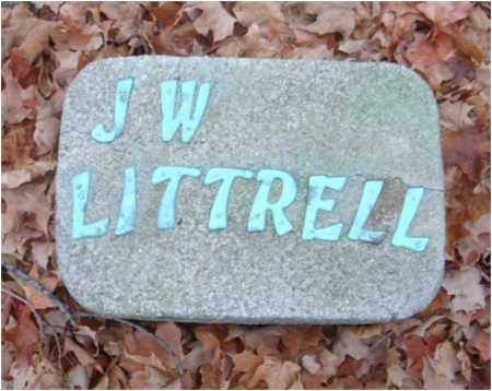LITTRELL, J. W. - Fairfield County, Ohio | J. W. LITTRELL - Ohio Gravestone Photos