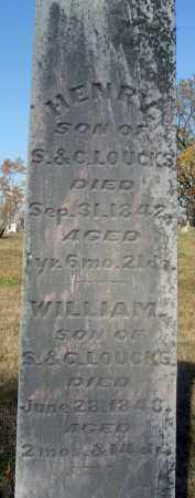 LOUCKS, WILLIAM - Fairfield County, Ohio | WILLIAM LOUCKS - Ohio Gravestone Photos