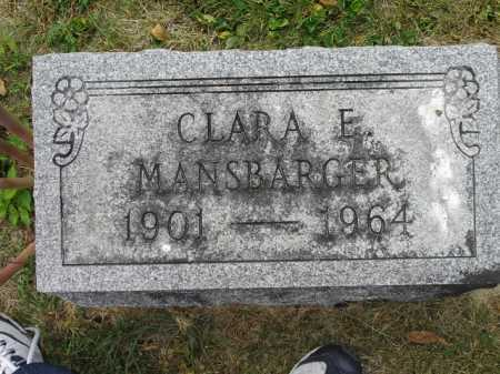 MANSBARGER, CLARA E - Fairfield County, Ohio | CLARA E MANSBARGER - Ohio Gravestone Photos