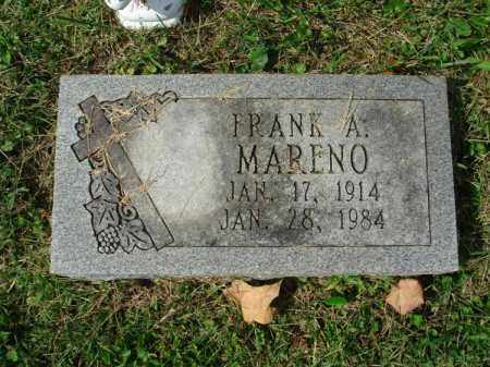 MARENO, FRANK A. - Fairfield County, Ohio | FRANK A. MARENO - Ohio Gravestone Photos