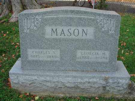MASON, CHARLES V. - Fairfield County, Ohio | CHARLES V. MASON - Ohio Gravestone Photos