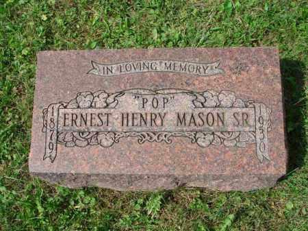 MASON, ERNEST HENRY - Fairfield County, Ohio | ERNEST HENRY MASON - Ohio Gravestone Photos