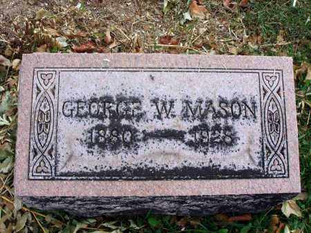 MASON, GEORGE W. - Fairfield County, Ohio | GEORGE W. MASON - Ohio Gravestone Photos