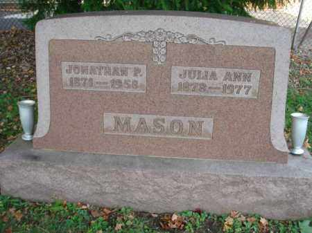 MASON, JONATHAN P. - Fairfield County, Ohio | JONATHAN P. MASON - Ohio Gravestone Photos