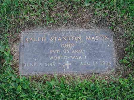 MASON, RALPH STANTON - Fairfield County, Ohio | RALPH STANTON MASON - Ohio Gravestone Photos