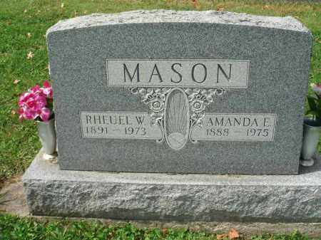 MASON, RHEUEL W. - Fairfield County, Ohio | RHEUEL W. MASON - Ohio Gravestone Photos