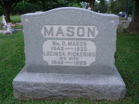 MASON, LUCINDA - Fairfield County, Ohio | LUCINDA MASON - Ohio Gravestone Photos