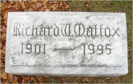 MATTOX, RICHARD W. - Fairfield County, Ohio | RICHARD W. MATTOX - Ohio Gravestone Photos