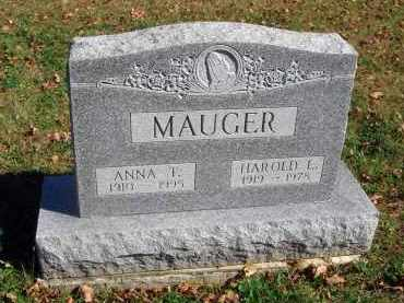 MAUGER, ANNA T. - Fairfield County, Ohio | ANNA T. MAUGER - Ohio Gravestone Photos