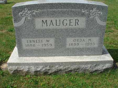 MAUGER, ORDA M. - Fairfield County, Ohio | ORDA M. MAUGER - Ohio Gravestone Photos