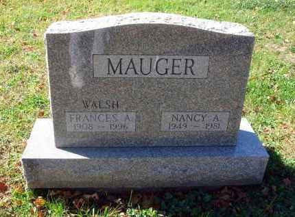 MAUGER, NANCY A. - Fairfield County, Ohio | NANCY A. MAUGER - Ohio Gravestone Photos