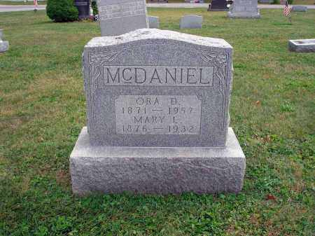 MCDANIEL, ORA D. - Fairfield County, Ohio | ORA D. MCDANIEL - Ohio Gravestone Photos