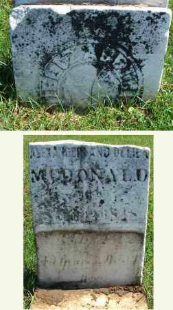 MCDONALD, ELIZABETH - Fairfield County, Ohio | ELIZABETH MCDONALD - Ohio Gravestone Photos