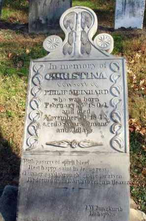 MEINHARD, CHRISTINA - Fairfield County, Ohio | CHRISTINA MEINHARD - Ohio Gravestone Photos