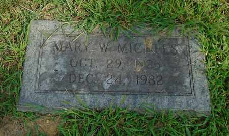 MICHELS, MARY W. - Fairfield County, Ohio | MARY W. MICHELS - Ohio Gravestone Photos