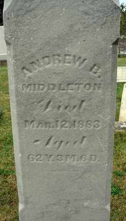 MIDDLETON, ANDREW B. - Fairfield County, Ohio | ANDREW B. MIDDLETON - Ohio Gravestone Photos