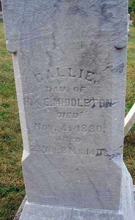 MIDDLETON, CALLIE - Fairfield County, Ohio | CALLIE MIDDLETON - Ohio Gravestone Photos