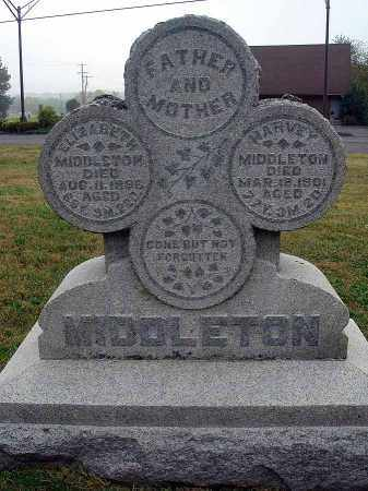 MIDDLETON, ELIZABETH - Fairfield County, Ohio | ELIZABETH MIDDLETON - Ohio Gravestone Photos