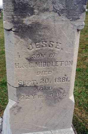 MIDDLETON, JESSE - Fairfield County, Ohio | JESSE MIDDLETON - Ohio Gravestone Photos