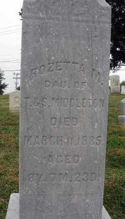 MIDDLETON, ROZETTA M. - Fairfield County, Ohio | ROZETTA M. MIDDLETON - Ohio Gravestone Photos