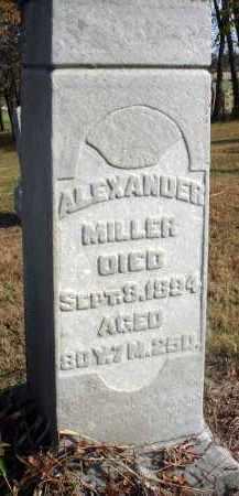 MILLER, ALEXANDER - Fairfield County, Ohio | ALEXANDER MILLER - Ohio Gravestone Photos