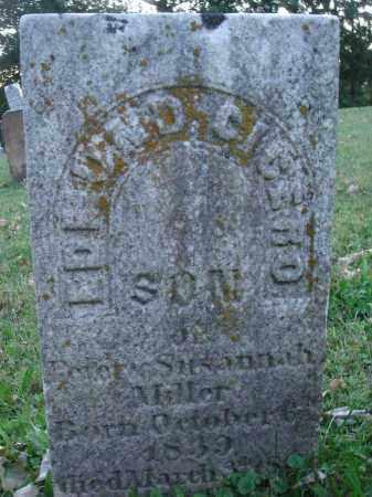 MILLER, EDMOND CICERO - Fairfield County, Ohio | EDMOND CICERO MILLER - Ohio Gravestone Photos