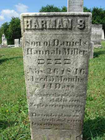 MILLER, HARMAN S. - Fairfield County, Ohio   HARMAN S. MILLER - Ohio Gravestone Photos