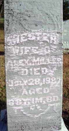 MILLER, HESTER - Fairfield County, Ohio | HESTER MILLER - Ohio Gravestone Photos