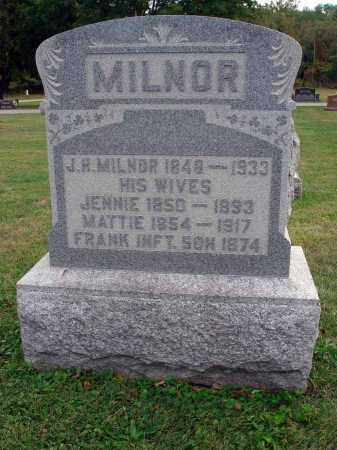 MILNOR, JENNIE - Fairfield County, Ohio | JENNIE MILNOR - Ohio Gravestone Photos