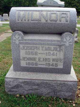 MILNOR, JOSEPH T. - Fairfield County, Ohio | JOSEPH T. MILNOR - Ohio Gravestone Photos