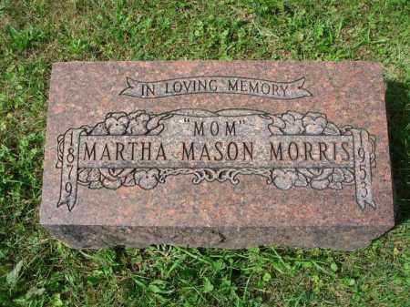 MASON MORRIS, MARTHA - Fairfield County, Ohio | MARTHA MASON MORRIS - Ohio Gravestone Photos