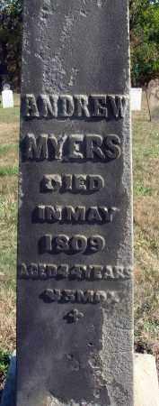MYERS, ANDREW - Fairfield County, Ohio | ANDREW MYERS - Ohio Gravestone Photos