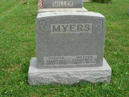 MYERS, FLORENCE V. - Fairfield County, Ohio | FLORENCE V. MYERS - Ohio Gravestone Photos