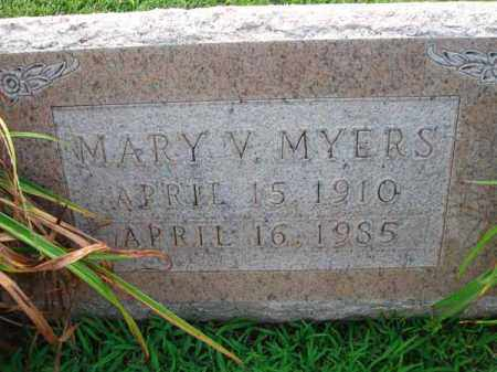 MYERS, MARY V. - Fairfield County, Ohio | MARY V. MYERS - Ohio Gravestone Photos