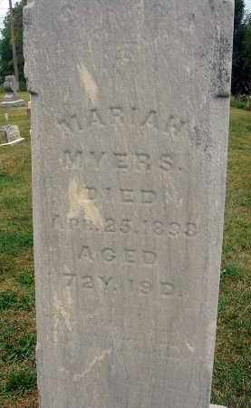 MYERS, MARIAH - Fairfield County, Ohio | MARIAH MYERS - Ohio Gravestone Photos