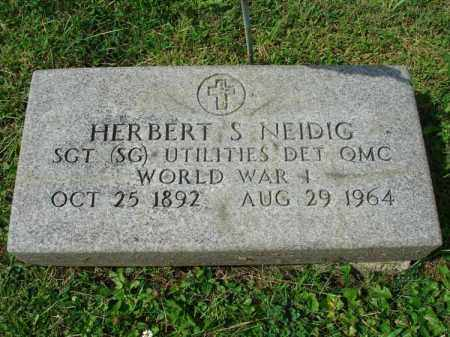NEIDIG, HERBERT S. - Fairfield County, Ohio | HERBERT S. NEIDIG - Ohio Gravestone Photos
