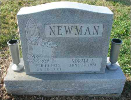 NEWMAN, ROY D. - Fairfield County, Ohio | ROY D. NEWMAN - Ohio Gravestone Photos