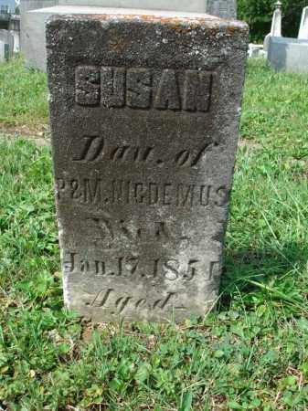 NICDEMUS, SUSAN - Fairfield County, Ohio | SUSAN NICDEMUS - Ohio Gravestone Photos