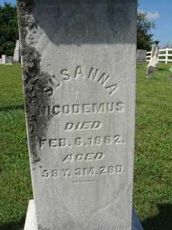 NICODEMUS, SUSANNA - Fairfield County, Ohio | SUSANNA NICODEMUS - Ohio Gravestone Photos
