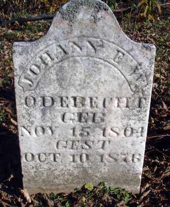 ODEBECHT, JOHANN - Fairfield County, Ohio | JOHANN ODEBECHT - Ohio Gravestone Photos