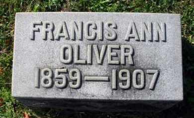 OLIVER, FRANCIS ANN - Fairfield County, Ohio | FRANCIS ANN OLIVER - Ohio Gravestone Photos