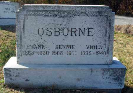 OSBORNE, JENNIE A. - Fairfield County, Ohio | JENNIE A. OSBORNE - Ohio Gravestone Photos