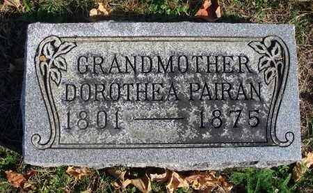 PAIRAN, DOROTHEA - Fairfield County, Ohio | DOROTHEA PAIRAN - Ohio Gravestone Photos